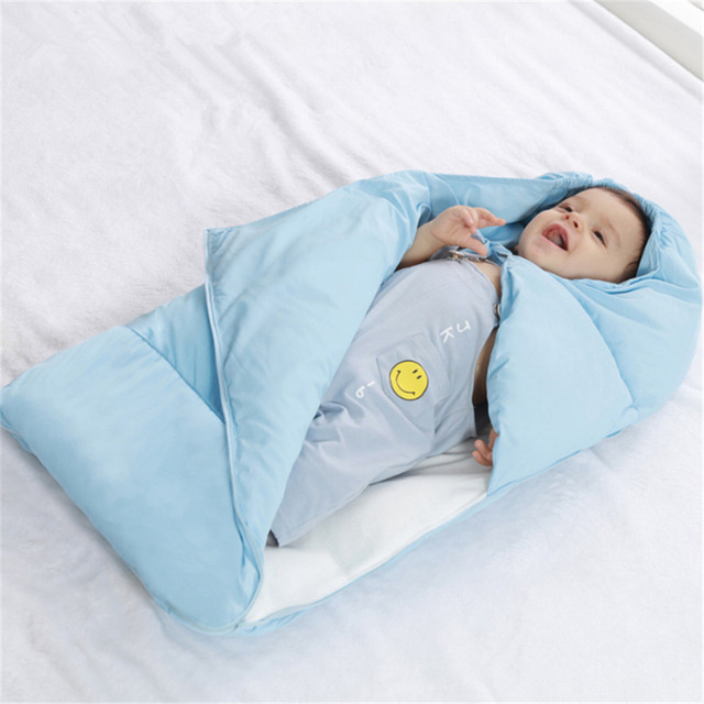 2d8b99a57 Newborn Baby Blanket Sleeping Bag Winter Baby Cotton Envelope Infant ...