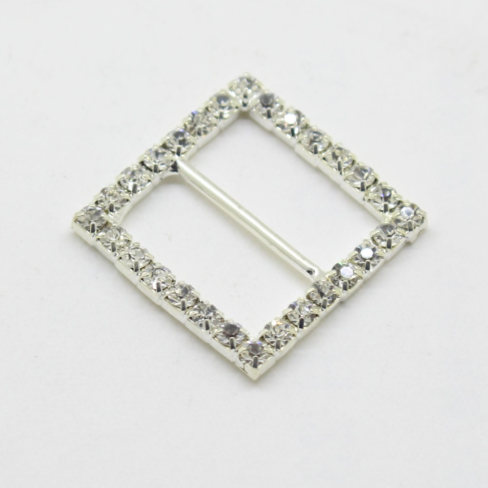 2017 Sale Time-limited 10pcs/lot 25mm Square Rhinestones Buckles Factor Outlets Invitation Diy Jewelry Accessores