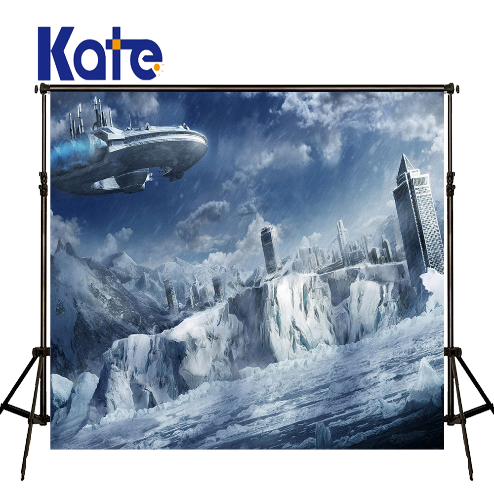 KATE Photography Backdrops Sci-Fi Glacier Spacecraft Post-Modern City Background City Backdrop Boy Backdrops for Photographic miele g 1143 sci