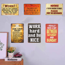 Plaques Vintage Tin Stickers