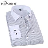 2017 Spring Classic Striped Men Business Shirt Slim Fit Formal Mens Dress Shirts Long Sleeve Overalls