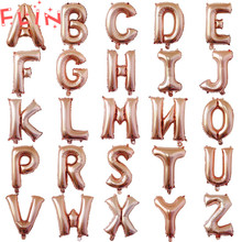 32inch 16inch Rose Gold Letter Inflatable Balloons Birthday Event Party Wedding Decorations Alphabet Balloon Adult  Baby shower