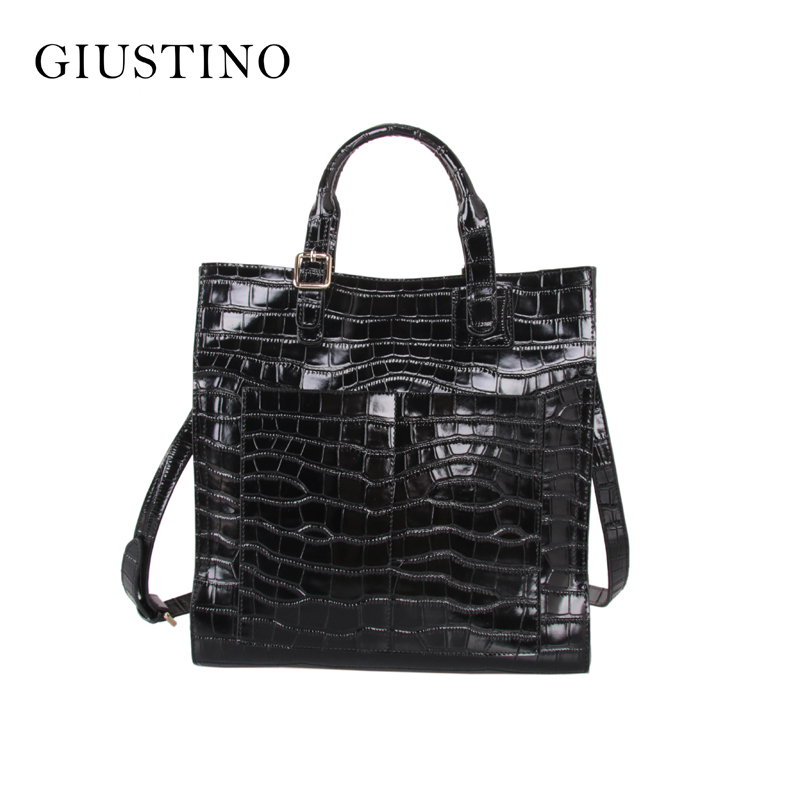Fashion Realer Genuine Leather Women Messenger Tote Bags Ladies Luxury Designer Handbags Famous Brand Bolsas Feminina Sac A Main