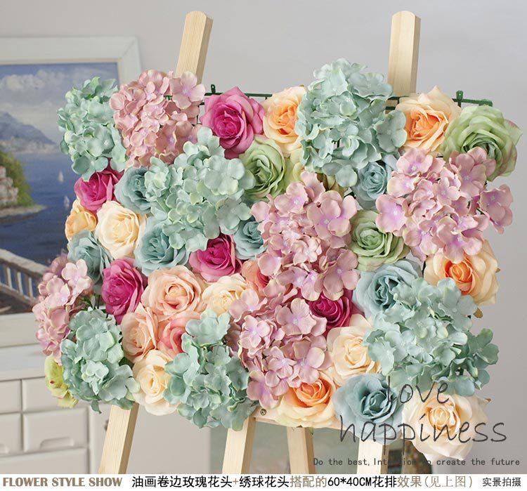 Wedding Stage Flower Decoration: 10pcs/lot Artificial Silk Rose Flower Wall Wedding