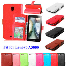 For Lenovo A5000 Bags Book Cover Wallet Leather Skin Case For Lenovo A 5000 Flip Phone Case Cover With Card Slots Holder Stand