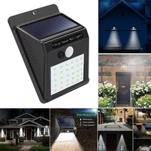 Solar Power 30 LED PIR Motion Sensor Wall Light Waterproof Outdoor Path Yard Garden Security Lamp недорого