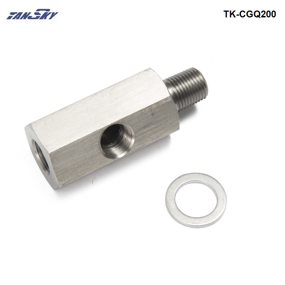 "Female To 1//8/"" NPT Male Stainless Steel Oil Pressure Gauge Adapter AN-4 4AN"