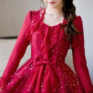Image 3 - Princess sweet lolita dress Candy rain fall original Japanese girl wind sweet butterfly sleeve jacobs princess dress C22CD7200