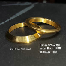 Relógio 6 peças por lote, diy, cobre in14 nixie, tubo, anéis decorativos