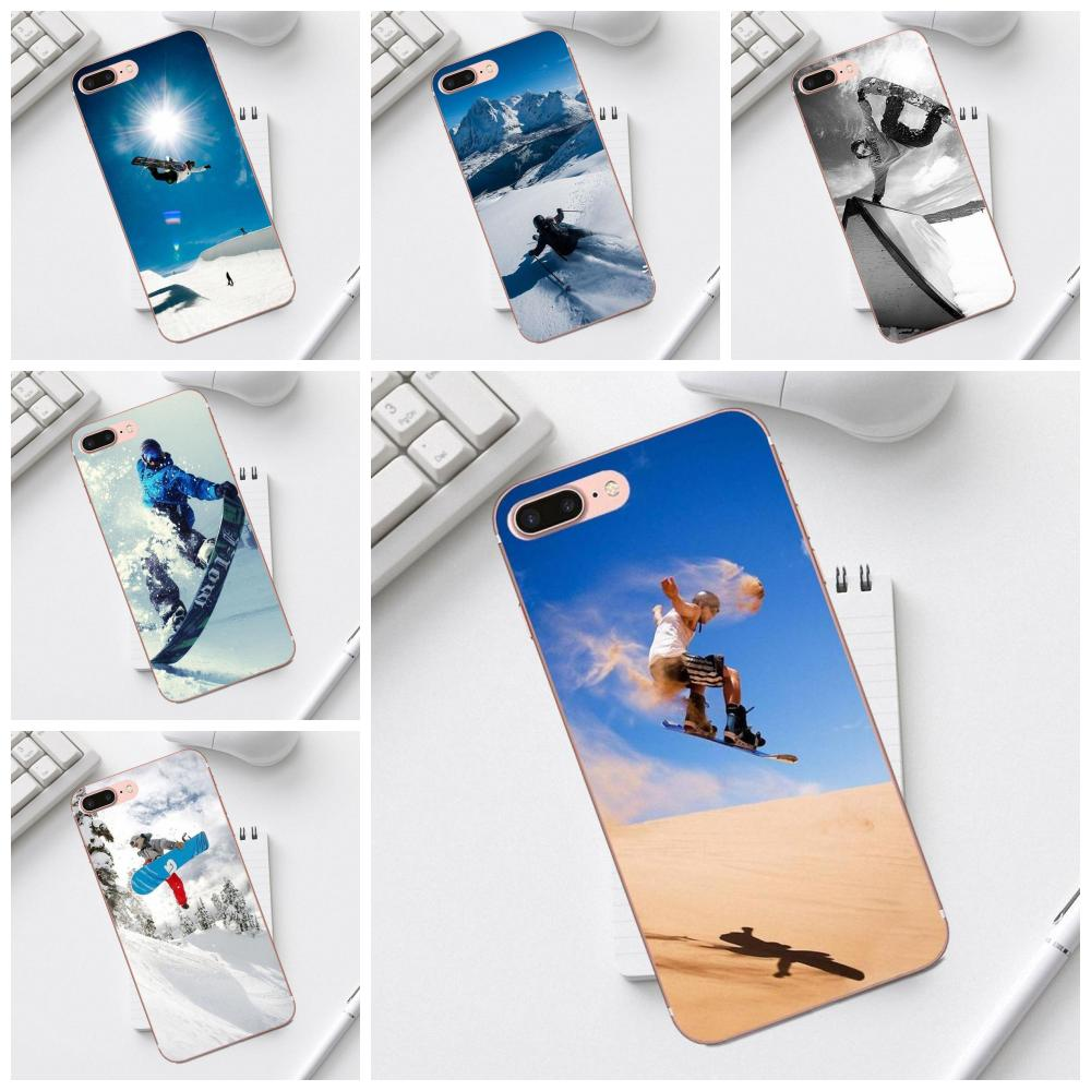 Soft TPU Phone Cases Enjoy Snow Or Die Ski Snowboard For Galaxy Alpha Core Prime Note 4 5 8 S3 S4 S5 S6 S7 S8 S9 mini edge Plus