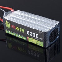 LION POWER 6S lipo battery 22.2v 5200mah 30c rc helicopter rc car rc boat quadcopter remote control toys Li Polymer 6S battey
