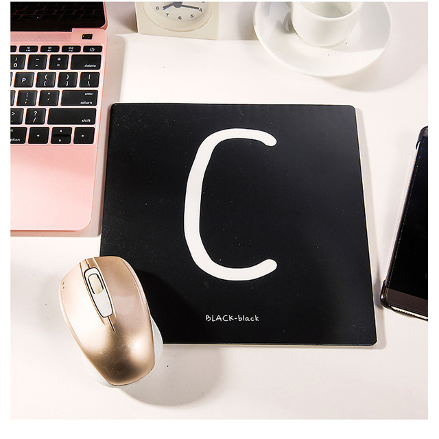 Hot Sale Cute Cartoon Mouse Pad Alphabet Letter Student Laptop Mice Mat  Anti Skid Office