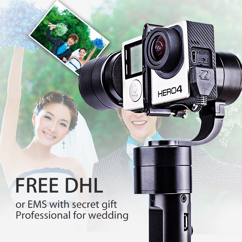 Free DHL Zhiyun Z1 Evolution 3 Axis Handheld Stabilizer Brushless Gimbal for GoPro Hero 5 4