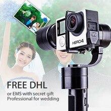 Бесплатная доставка DHL! Zhiyun Z1-Evolution 3 оси Ручной Стабилизатор Бесщеточный Gimbal для GoPro Hero 5 4 3 + 3 SJ4000 SJ5000 камеры