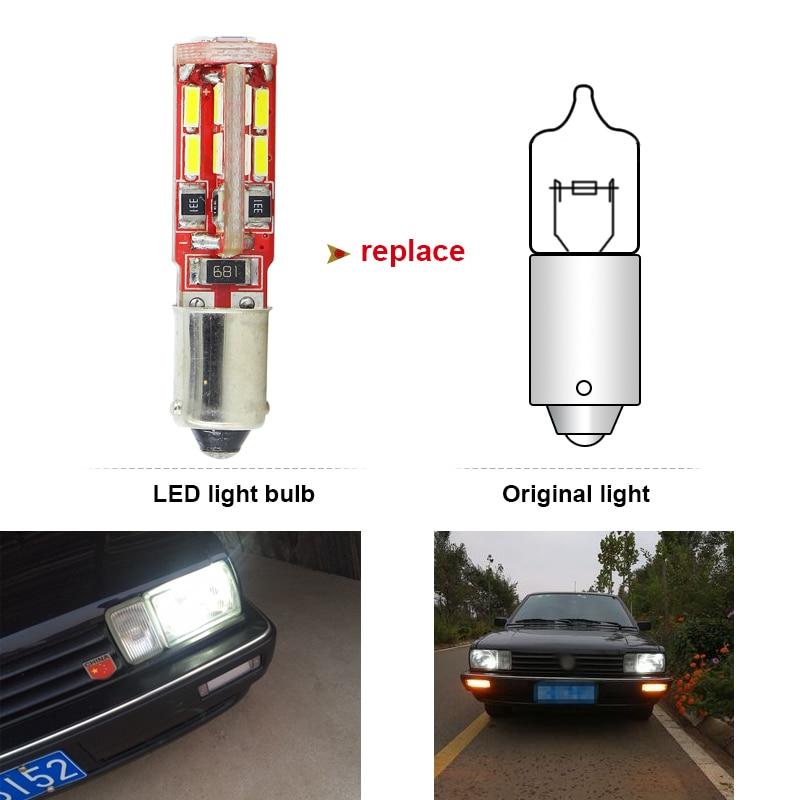 SAARMAT 2x LED BAX9S H6W lampa 6000K Ağ 19SMD Çiplər Canbus Xəta - Avtomobil işıqları - Fotoqrafiya 4