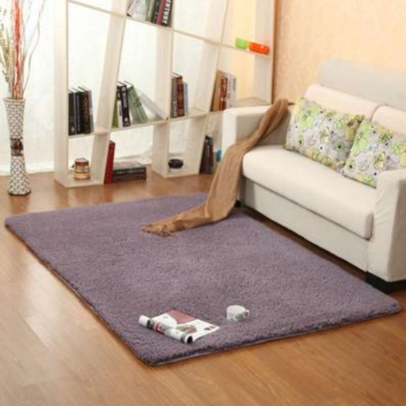 new fashion purple fluffy rugs antiskid shaggy area living room home bedroom carpet thick - Fluffy Rugs