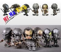 New HOTTOYS COSBABY AVP Alien WOLF PREDATOR Figure Model Toy 6pcs Set With