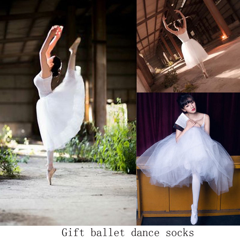 Ballet Tutu Adult High Quality Professional White Swan Lake Dance Dress Cheap Children Vest Veil Ballet Dancing Skirt