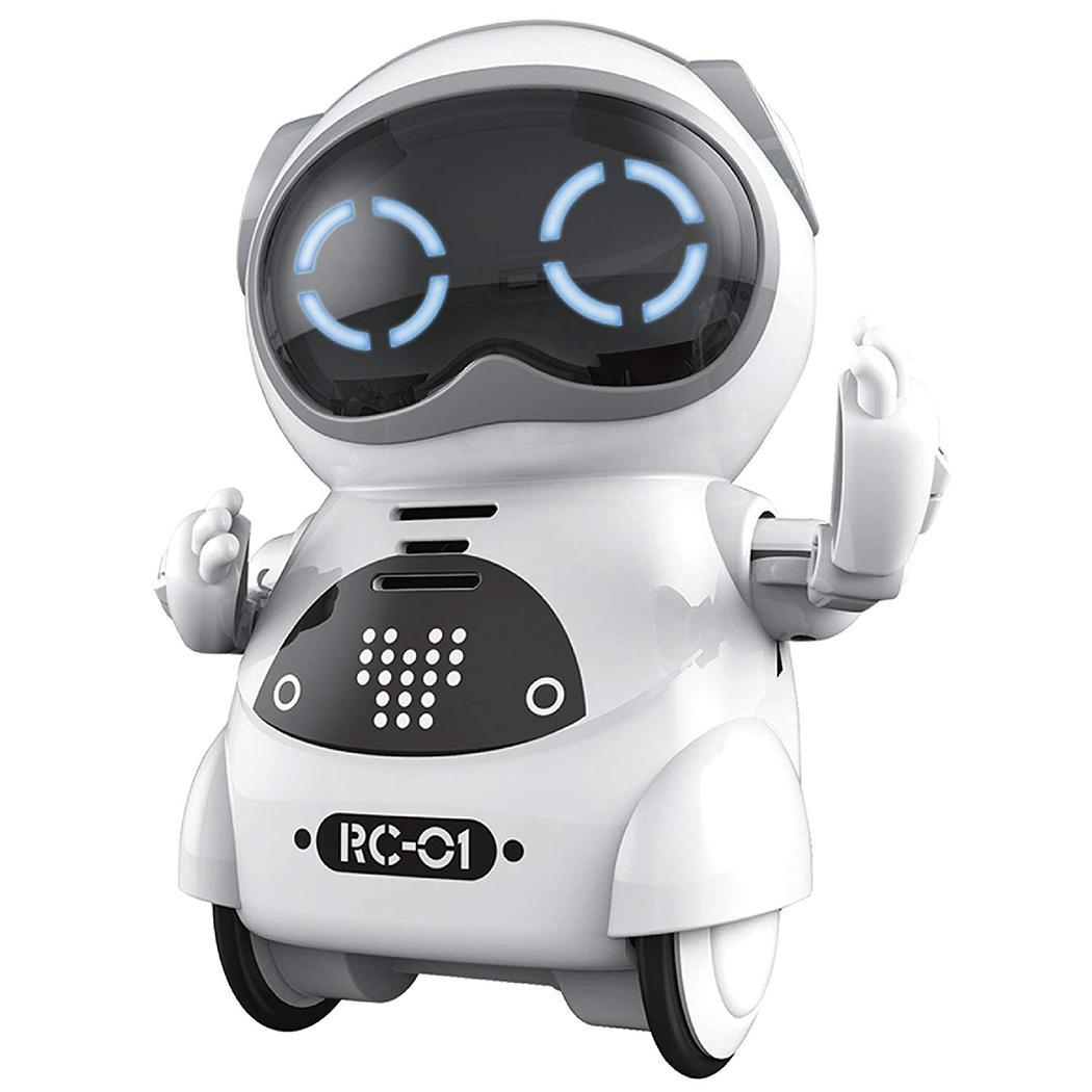 Pocket Robot Talking Interactive Dialogue Voice Recognition Record Singing Dancing Telling Story Mini Intelligent Robot Toy(China)
