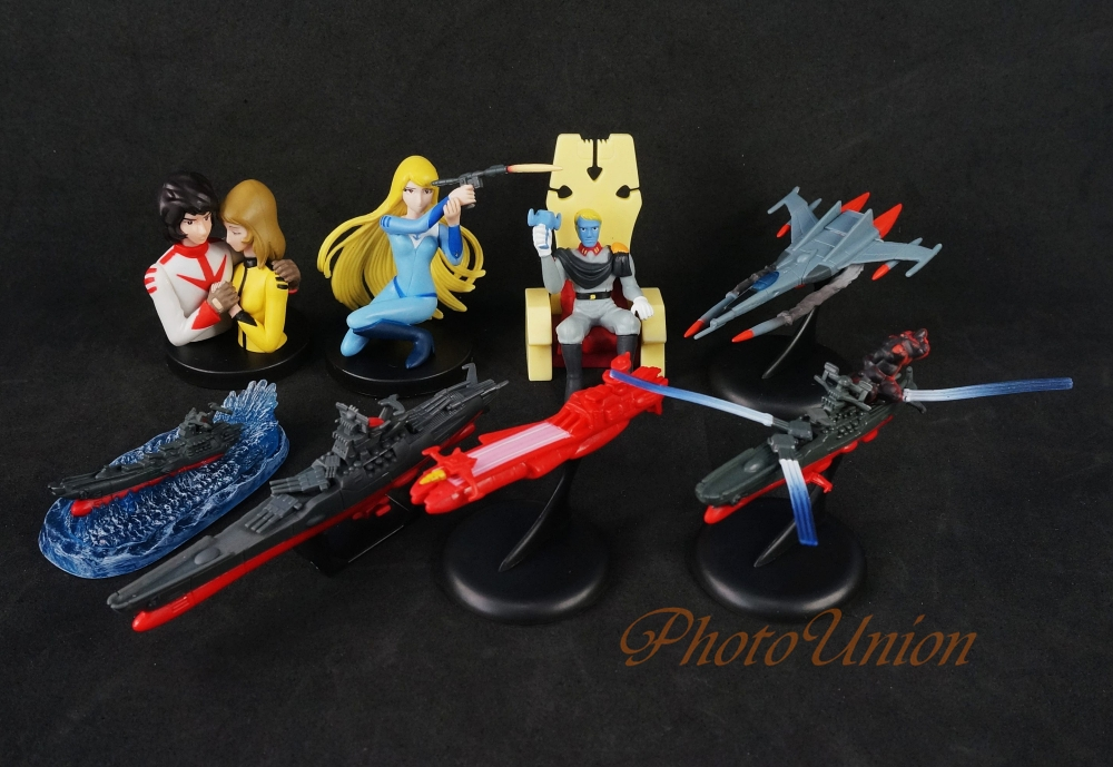 DIY Assemble Q Version 8PCS PVC Figures Space Battleship Yamato Tesla  President Fighter Warships Model-in Action & Toy Figures from Toys &  Hobbies on