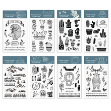 Northern Europe cactus transparent silicone clear stamp for scrapbooking album DIY craft decoration rubber stamp stationery