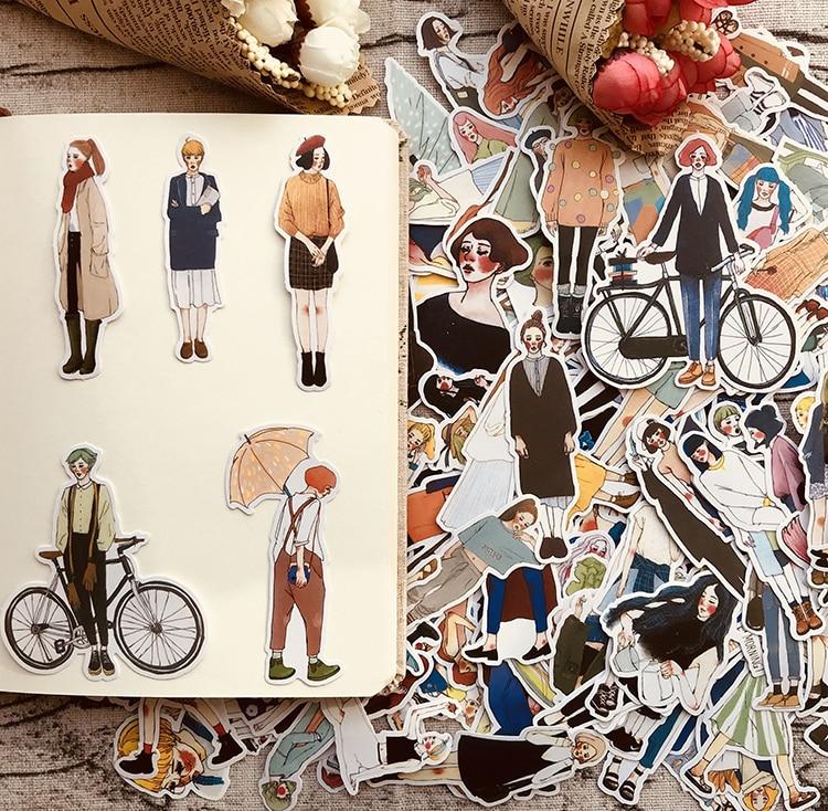 280pcs Cute kawaii self-made Pretty girls scrapbooking Stickers /Decorative Sticker /notebook diary welt DIY Craft Photo Albums(China)