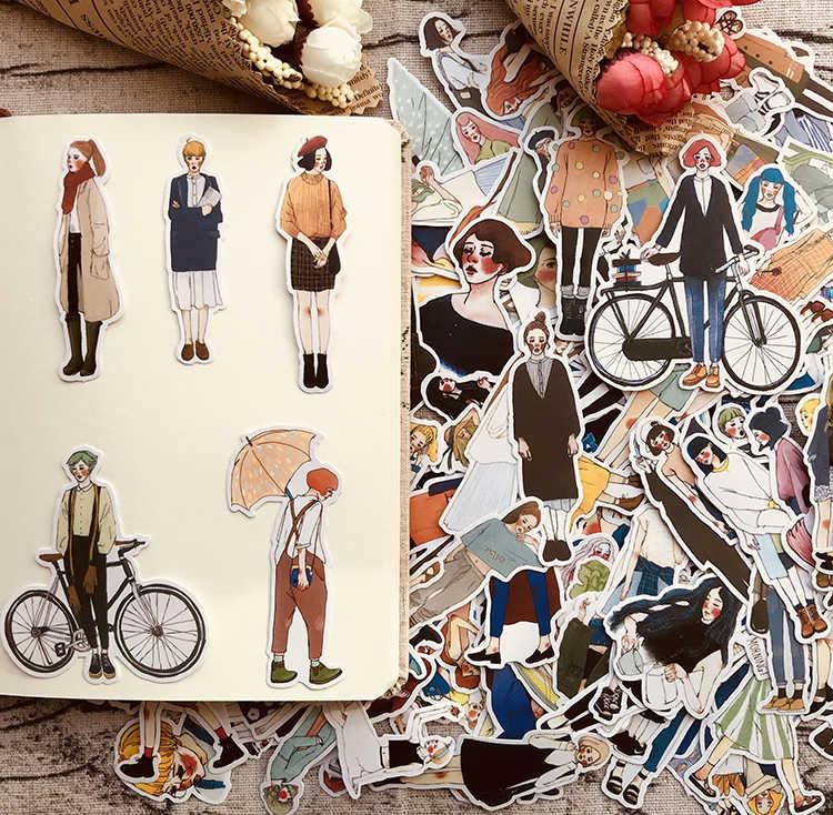 280pcs Cute kawaii self-made Pretty girls scrapbooking Stickers /Decorative Sticker /notebook diary welt DIY Craft Photo Albums