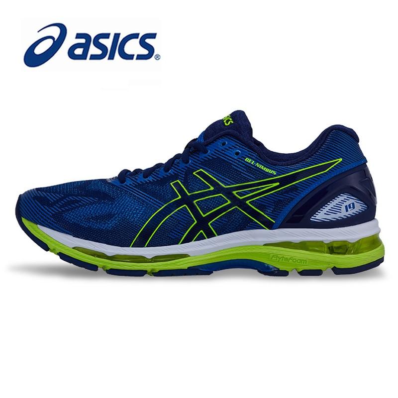 ASICS zapatos de hombre originales auténticos GEL-NIMBUS 19 cojín luz zapatillas de correr transpirables deportes al aire libre ocio T700N
