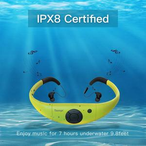 Image 5 - Tayogo Bluetooth 100% עמיד למים MP3 מוסיקה נגן אוזניות מתחת למים HIFI ספורט mp3 bluetooth עם FM Pedo מד לשחייה