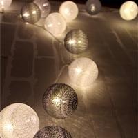Cool Color Series Cotton Ball String Lights Luces Led Decoracion Holiday Guirlande Led Bedroom Garland Lights