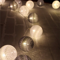 Cool Color Series Cotton Ball String Lights Luces Led Decoracion Holiday Guirlande Led Bedroom Garland Lights