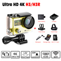 "Action Camera Original H3R / H3 Ultra 4K HD 2.0"" Dual Screen Action Camera Waterproof 170D Lens go - pro Style cam Sports HD DV"