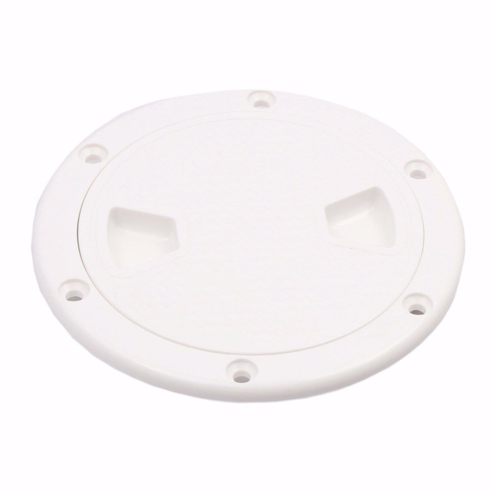 6 inch White Boat Marine  Round Non Slip Inspection Hatch Detachable Cover Boat Hatch