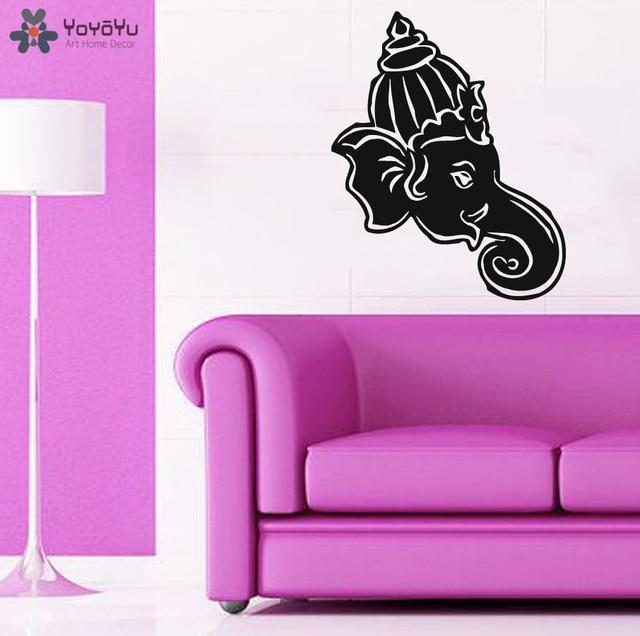 YOYOYU Wall Decal Hindu God Elephant Vinyl Wall Stickers Livingroom ...