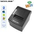 Voxlink 80mm wifi pos impresora térmica de recibos para los teléfonos android tablet para ipone ipad ios 300 mm/s auto-cortador wifi printer_dhl
