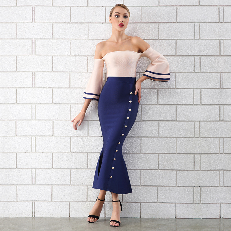 rockabilly boho party sexy maxi dinner night evening knitted club dresses plus size 2019 women summer navy white body con