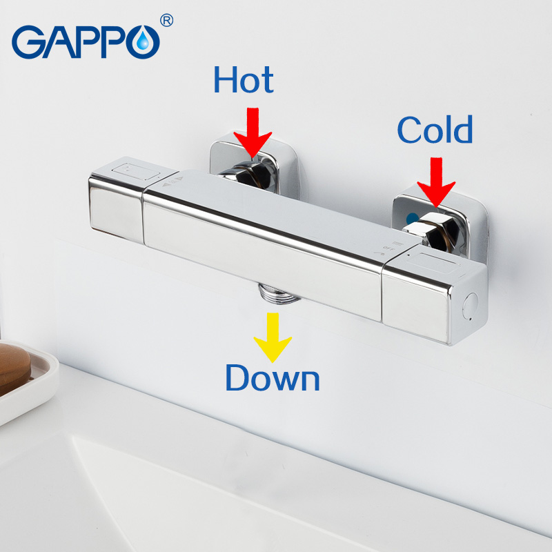 GAPPO Shower Faucets thermostatic shower bath shower thermostatic faucet thermostat shower faucet mixer tap gappo bathtub faucet thermostatic shower mixers in wall faucets shower faucet thermostatic thermostat taps