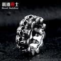 steel soldier stainless steel men punk skull ring vintage domineering skull 316l steel jewelry