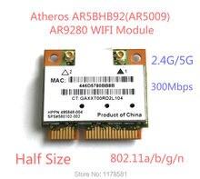 Atheros AR5009 AR5BHB92 AR9280 Двухдиапазонный 2.4 Г/5 ГГц 802.11a/b/g/n 300Mbp беспроводной wi-fi половина mini pci-e Карты