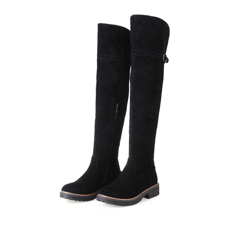 ФОТО Motorcycle Boots Winter New Over Knee High Boots Sexy Fashion Boots for Women Warm Snow Long Knight Boots Winter Shoes 7793