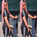 Hot Silky Straight Black Pink Ombre Glueless Synthetic Lace Front Wig Heat Resistant Middle Part With Baby Hair For Black Women