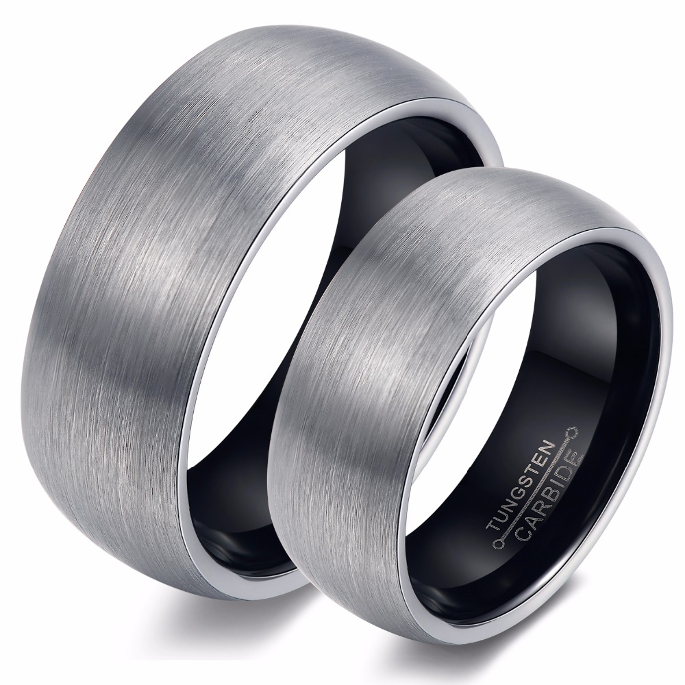 Couple Wedding Jewelry For Lovers Couple Tungsten Ring Dull Polish Tungsten Wedding Ring Jewelry Fashion Big Ring WJ247 ...
