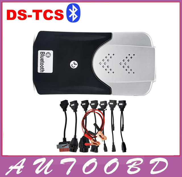 High Quality A+TCS CDP+8Car cables(2014 R2&2015.R1Optional ) With Bluetooth Stronger than VD600 Cars/Trucks Diagnostic Scan Tool