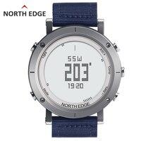 Мужские Цифровые Спортивные наручные часы Рыбалка Погода Водонепроницаемый 50 м альтиметр барометр термометр компас сердечного ритма Пеши