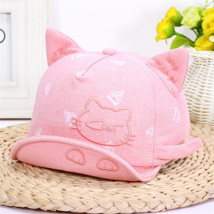 Lawadka recién nacido sombreros para niñas lindo gato sombrero del bebé  niñas niños gorros bebé verano sol sombrero con oreja gorros Accesorios -  a.samuelk. ... b2aee386a7d