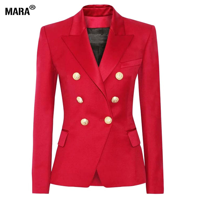 Blazers in red are popular for professional outfits and casual events as well. You can select red blazers from a wide range of shades or red to go perfectly with various items you already own. Some red blazers are cut to fit your figure closely while others are oversized or cut straight with no waistline.