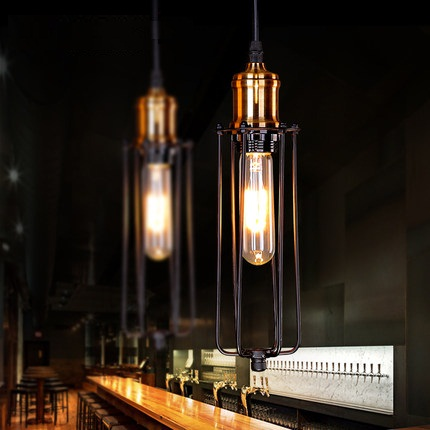 American Loft Style Iron Droplight Industrial Edison Vintage Pendant Lamp Dining Room RH Hanging Light Fixtures Indoor Lighting