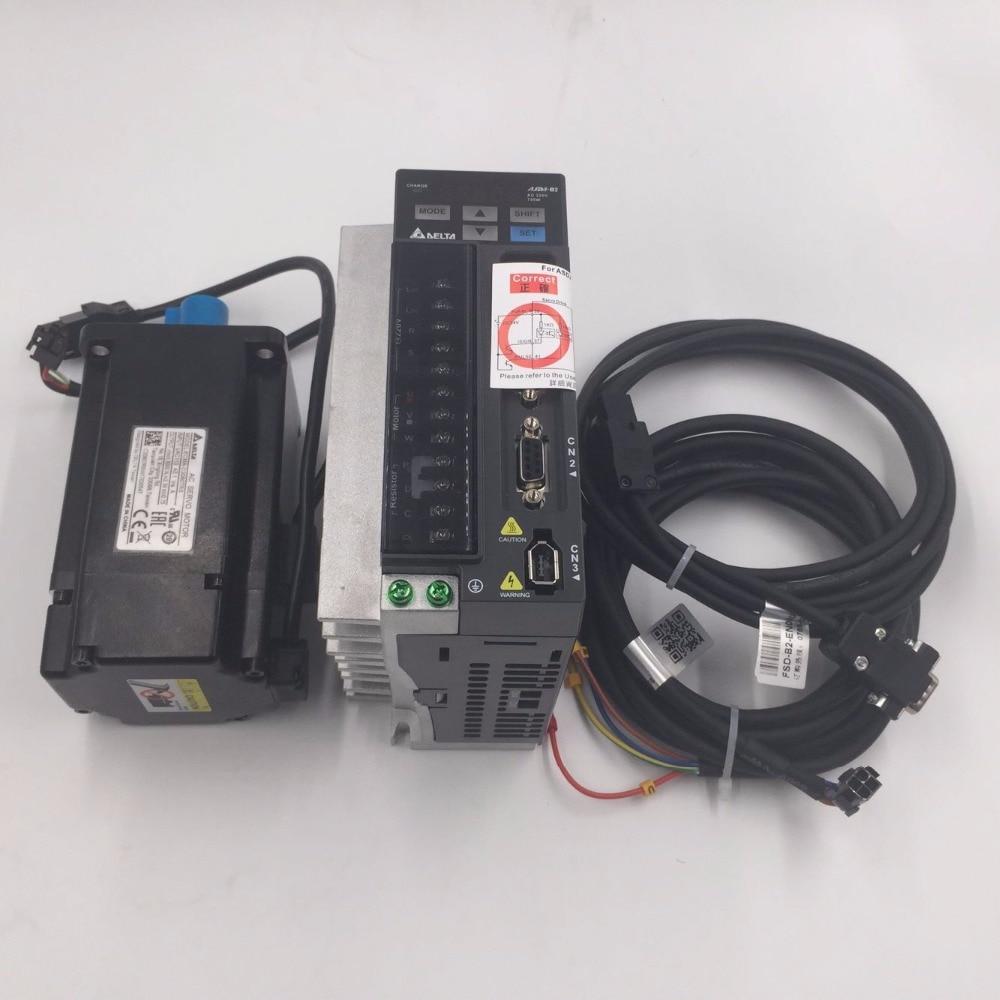 Delta AC Servo Motor Drive kit 220V 1KW 3.18NM 3000r/min 100mm ASD-B2-1021-B+ECMA-C21010RS 2 7a 400w 1 3nm 3000r min hf mp43 mr j3 40a servo motor drive kit
