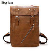 Men Backpack Solid School Bags For Teenager Girls Large Capacity Casual Women Black Back Packs Fashion High Quality PU Leather