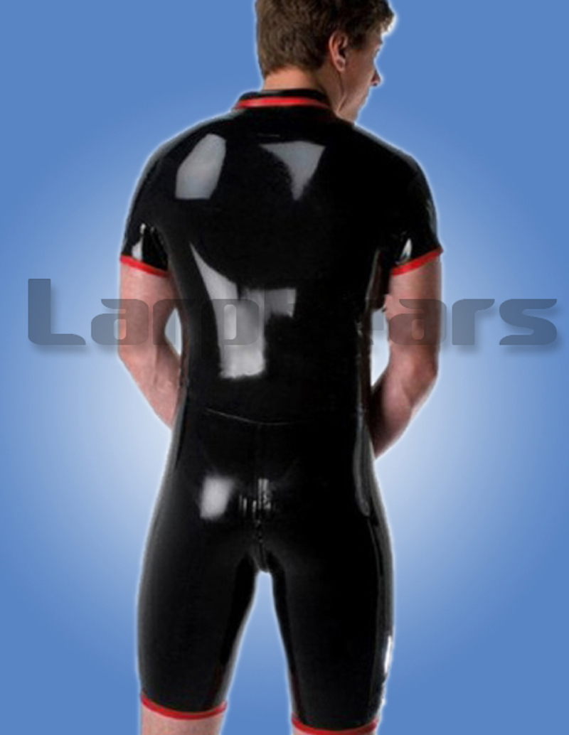 100% Glued Handmade New Latex Rubber Catsuit Suit Zentai Bodysuit Man Leotard-in Teddies & Bodysuits from Novelty & Special Use    2